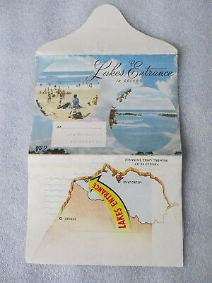 Vintage Bulmers Foldout View Folder, Lakes Entrance in Color - 9 views