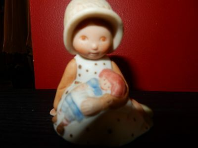Vintage Holly Hobbie Porcelain Girl  With Her Doll