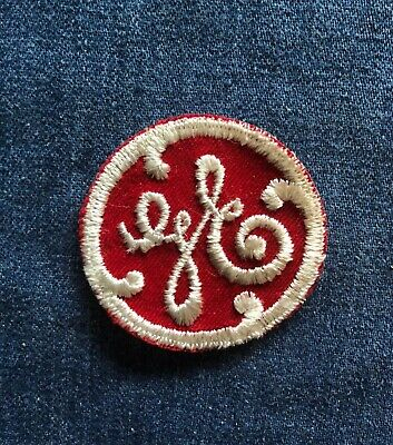 """Vintage NOS Embroidered """"GE""""General Electric Logo Patch"""