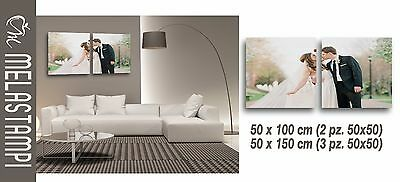 PRINTING ON CANVAS personalized with photo modern house furnishing gift idea