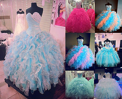 Hot Fashion Elegant Quinceanera Dress Multi Formal Prom Party Ball Gown Custom