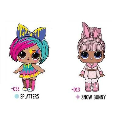 Custom LOL Surprise! #Hairgoals Splatters and Snow Bunny Dolls by MGAE Makeover