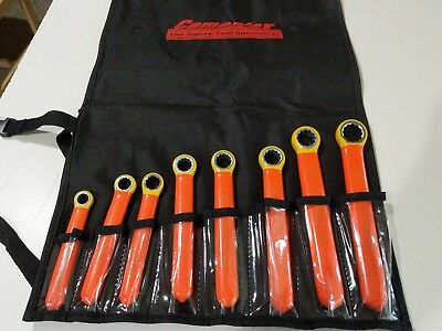 CEMENTEX 8 PC. METRIC HIGH VOLTAGE INSULATED BOX END WRENCHES -10-19mm. 1000V.