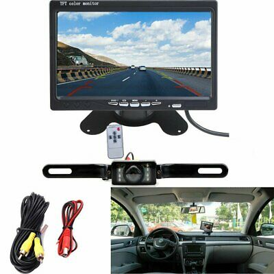 7in TFT LCD Car Monitor +Rear View Backup Camera Night Vision Wireless System BP