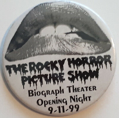 Rocky Horror Picture Show Biograph Theater Opening Night 1999 Button Pin Badge