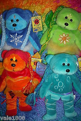 Beanie Kids 4 Element Set Flicker Eco Trickle Blizzard