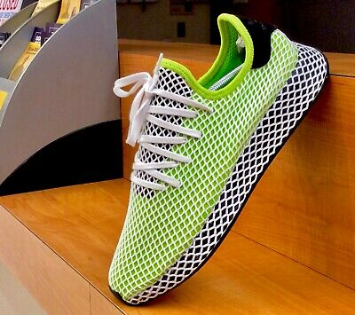 new style 80ccc 04ece Adidas Deerupt Runner Mens Sz12  Solar Slime-Core Black  B27779  BRAND  NEW