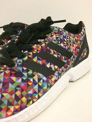 a61008cc9 Adidas ZX Flux Multi Color Prism Rainbow Boost Multicolor S81604 Xeno VNDS  11.5