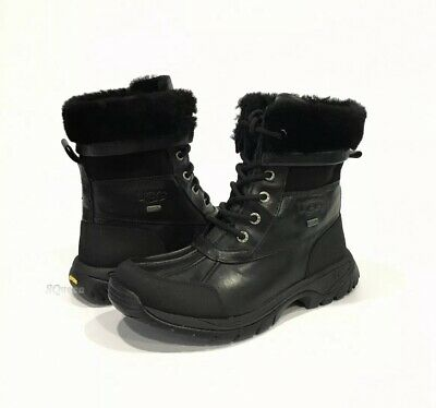 5558e54c2f2 UGG BUTTE KIDS Waterproof Snow Boots Black Leather -Kids Us 5 -New