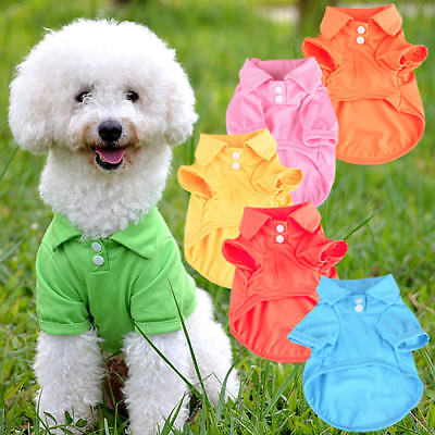 BU_ Pet Puppy Polo Shirt Small Dog Cat Pet Clothes Costume Apparel T-Shirt Noted