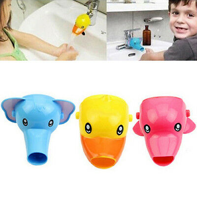 BU_ Cartoon Happy Cute Animals Faucet Extender Kids Hand Washing Sink Gift Uniqu