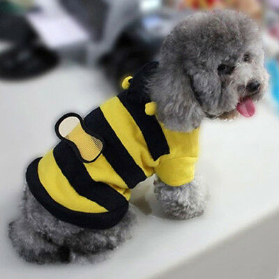 BU_ Pet Hoodie Clothes Fancy Puppy Apparel Costume Cat Dog Coat Outfit Bee Style