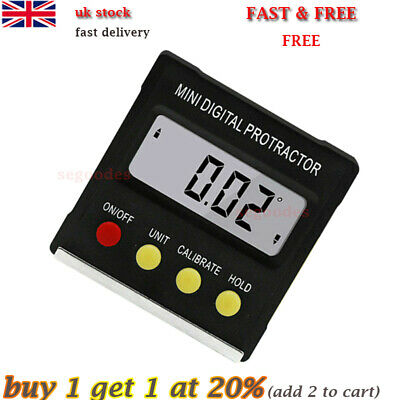 Mini Digital Inclinometer Level Box Protractor Angle Finder Bevel Gauge Magnet