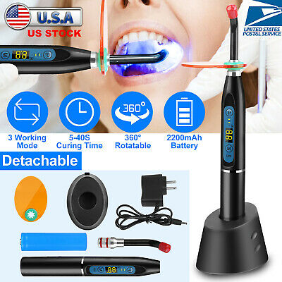 Dentist Dental LED Curing Light Lamp Wireless Cordless Resin Cure 5W 1500MW USA