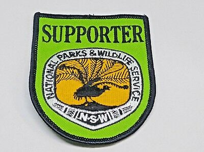 Nsw National Parks & Wildlife Service Supporter Patch / Badge