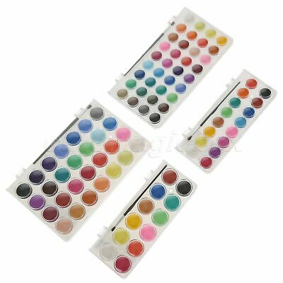 Instant Water-soluble 12/16/28/36 Colours Solid Cakes Watercolor Colour Sketch