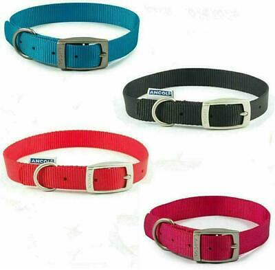 Dog Collar Ancol Heritage Soft Puppy Nylon Strong Handy Straps