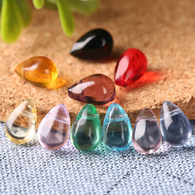 Wholesale Natural Crystal Stone Water Drop Pendant Healing Gemstone Charms Gift