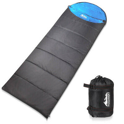 WEISSHORN Camping Sleeping Bag -10°C Hiking Thermal Carry Bag Tent Micro Grey