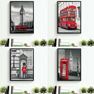 BU_ London Landscape Print Canvas Wall Painting Pictures Home Decor Unframed Fas