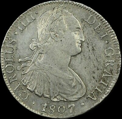 Mexico 1807 Silver Eight Reales  KM# 109 PCGS AU58