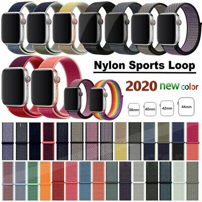 For Apple Watch Series 5/4/3/2 Nylon Sports Loop iWatch Band Strap 38/40/42/44mm