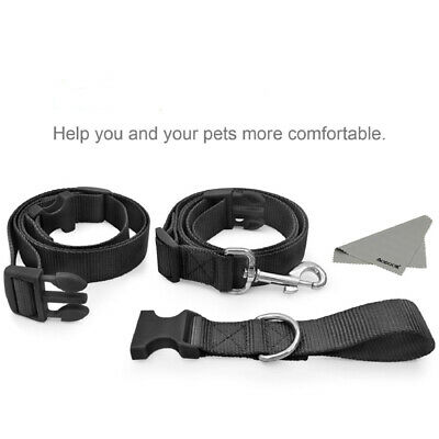 Hands free Dog Pets Lead Walking Running Jogging Waist Belt Leash Adjustable