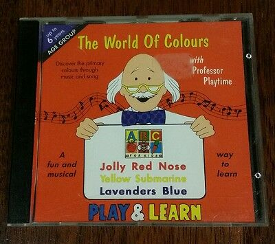 LEARN THE ALPHABET With Professor Playtime CD Super Rare