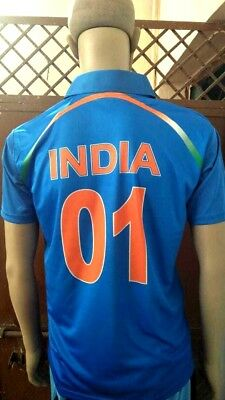 7304b04fb Indian Cricket Team Jersey Tshirt ODI T20 2018 Oppo Official Logo INDIA 01