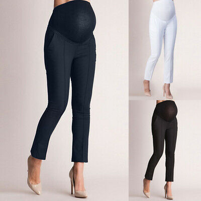 Women Maternity Elastic Protection Leggings Slim Pants Pregnant Trousers LOVE