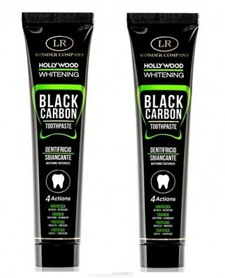 HOLLYWOOD Whitening Dentifricio Sbiancante Black Carbon 2 Confezioni Offerta