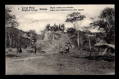 Belgian Congo Picture P/C Boma to Gent, Belgium Ant Hill Workers 5/15/1913