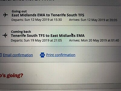 Flights Cheap East Midlands Teneriffe May Baggage Luggage Meals Reserved Seats