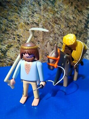 Playmobil Belen Aldeano Medieval Con Burro Peasant With Donkey