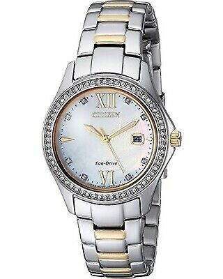 Citizen Two-Tone Stainless Steel Water Resistant Eco-Drive Watch FE1144-85B