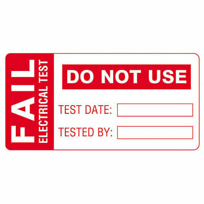 Martindale FAIL1 PAT Testing FAIL Labels - Roll Of 100