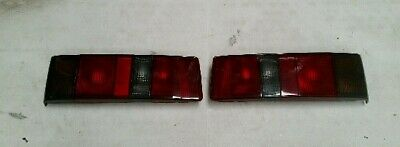 Ford Escort Rs Turbo Series 2 New Smoked Rear Light Lamp Set