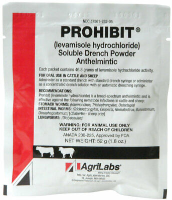 Prohibit Soluble Drench Powder for Cattle and Sheep 52gm by AgriLabs