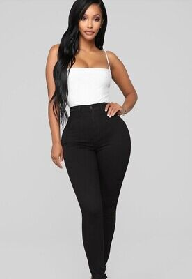 FASHION NOVA PERFECTLY classic black jeans size 0 new with