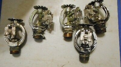 Lot Of 5 Used Automatic Fire Sprinkler Heads  Cleveland O.165 Degree 2-38B 3-38E