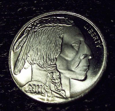 2011 (dated) Indian / Buffalo 1 oz. .999 Fine SILVER Round