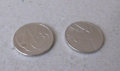 CHEAPEST ON EBAY - 1 x N & 1 x U - 10p COINS -  A-Z COLLECTORS BRITISH COIN HUNT