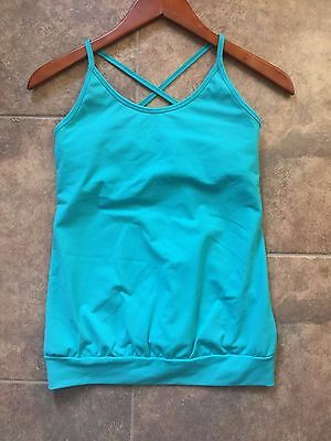 a535d97db7362 TONIC Yoga   Climbing   Workout   Aerial   Prana Turquoise Spin Tank Top  SMALL S