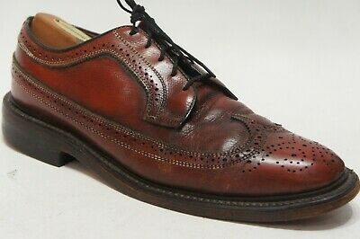 2fa30b5fe411 JC PENNY CLASSIC Brown Leather Wingtip Brogue Oxford Dress Shoes 9.5 ...