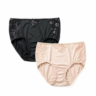 ba55dc050773 DELIMIRA Lace Panties Smooth High Middle Waist Briefs for Women - Pack of 2