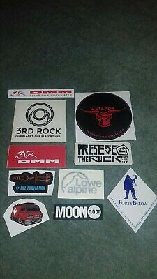 Collectable Moon Dmm Lowe Alpine  Black Diamond  E9 Red Chili Stickers