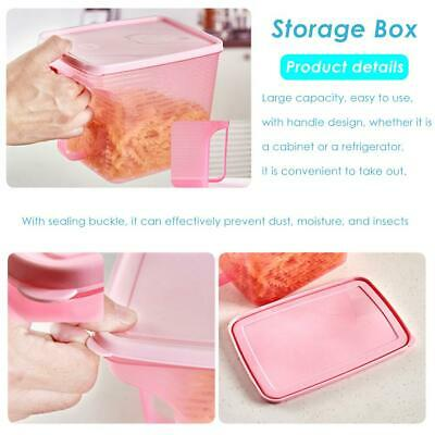 Plastic Storage Box Refrigerator Food Sealed Storage Container with Handle