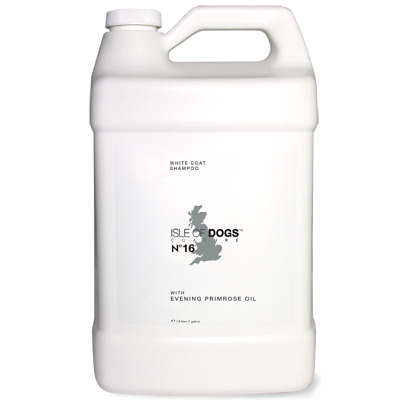 Isle of Dogs Coature No 16 White Coat Evening Primrose Oil Shampoo 1 Gal 3.79L