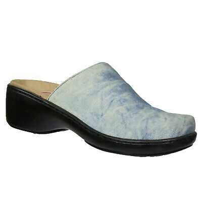 Klogs Isabella Women/'s Leather Clogs Display Shoes Model Black 6 M