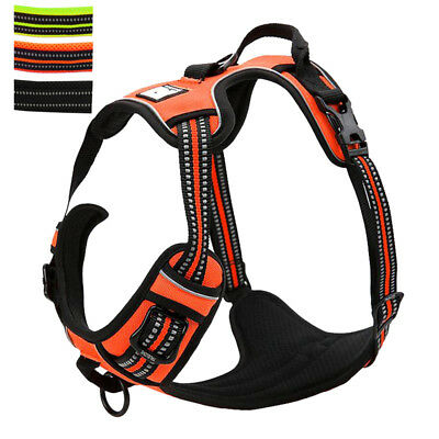 No Pull Large Dog Harness Reflective Mesh Vest Quick Fit Adjustable for Pitbull
